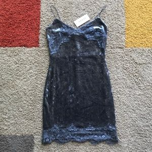 NEW GUESS Nada Velvet Mini Dress | Size XS